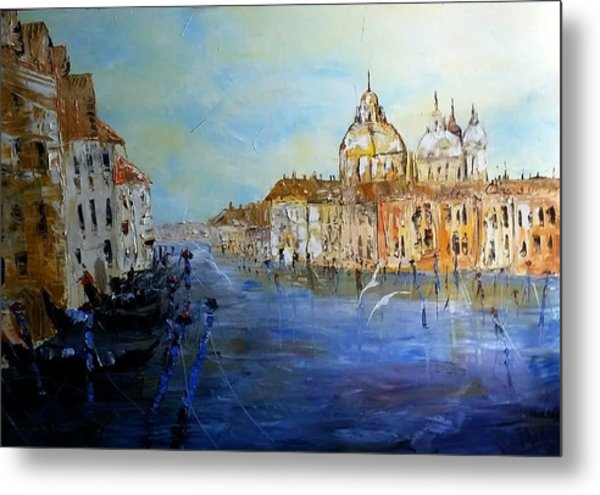 Venice Oil Sketch  Metal Print