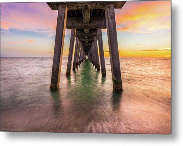 Metal Print featuring the photograph Venice Pier by Expressive Landscapes Fine Art Photography by Thom
