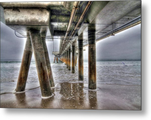 Venice Pier Industrial Metal Print