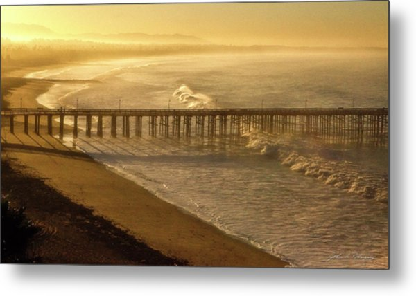 Ventura, Ca Pier At Sunrise Metal Print