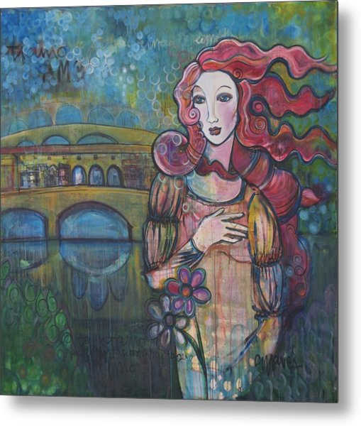 Venus And The Ponte Vecchio  Metal Print