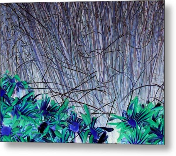 Venus Blue Botanical Metal Print