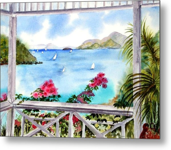 Veranda View Metal Print
