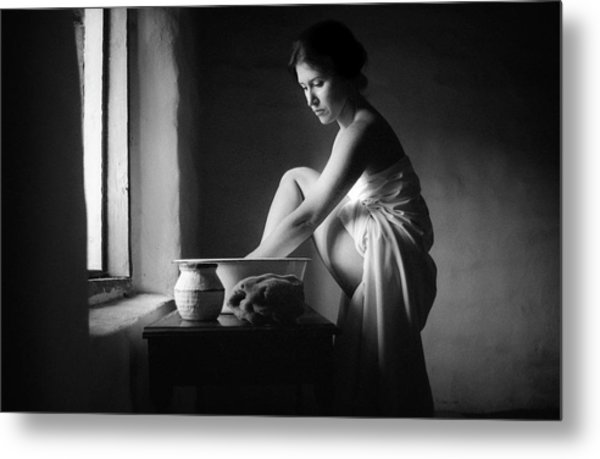 Metal Print featuring the photograph Vermeer Footwasher by Jennifer Wright