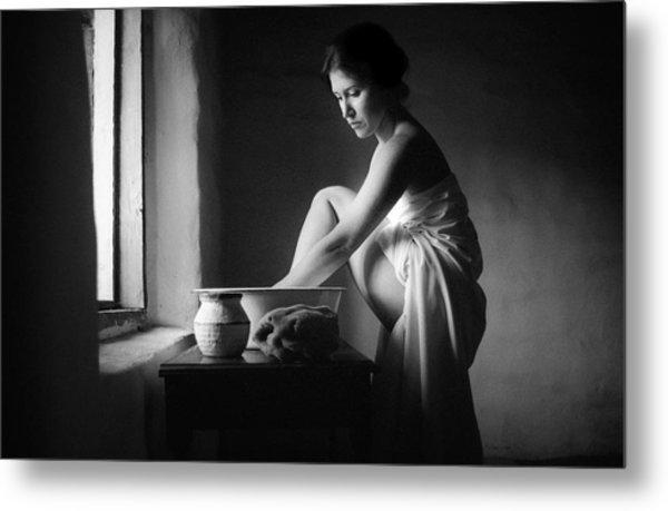 Vermeer Footwasher Metal Print