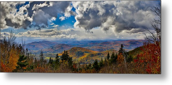 Vermont Autumn From Mt. Ascutney Metal Print