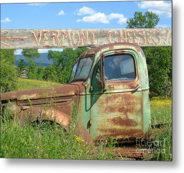 Vermont Cheese Metal Print