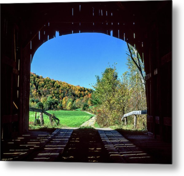 Vermont Covered Bridge Metal Print