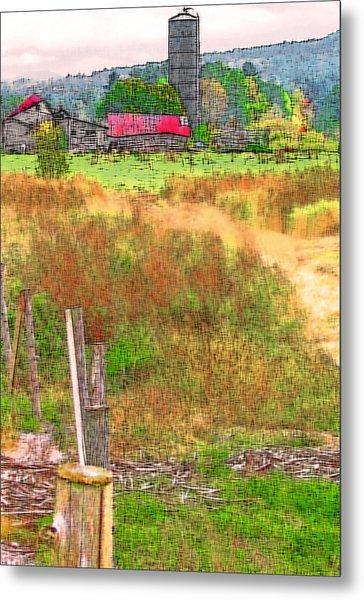 Vermont Farmland 3 Metal Print by Steve Ohlsen