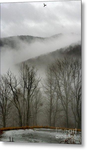 Vermont Mist Metal Print by Paula Deutz
