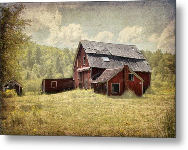 Vermont Red Barn  Metal Print