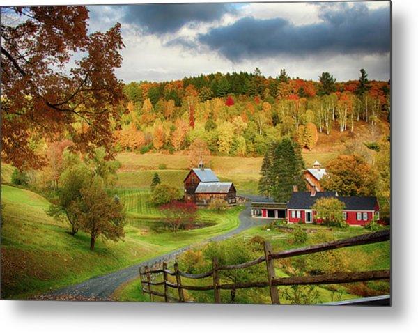 Vermont Sleepy Hollow In Fall Foliage Metal Print