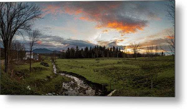 Vermont Sunset Metal Print