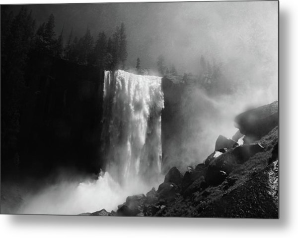 Vernal Fall And Mist Trail Metal Print