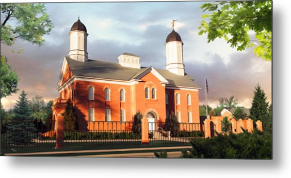 Vernal Temple Metal Print by Brent Borup