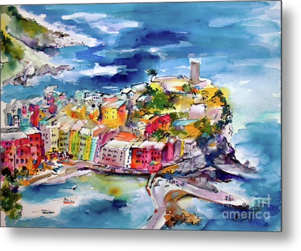 Vernazza Cinque Terre Paintings Of Italy Metal Print