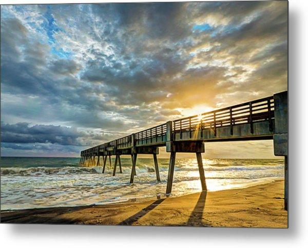 Vero Beach Pier Summertime Metal Print