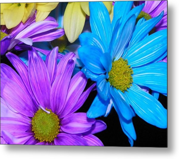 Very Colorful Flowers Metal Print