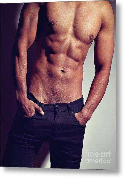 Very Sexy Man With Great Body Metal Print