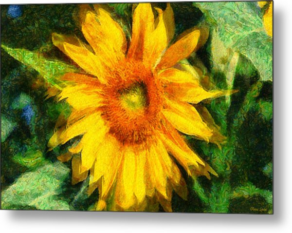 Very Wild Sunflower Metal Print