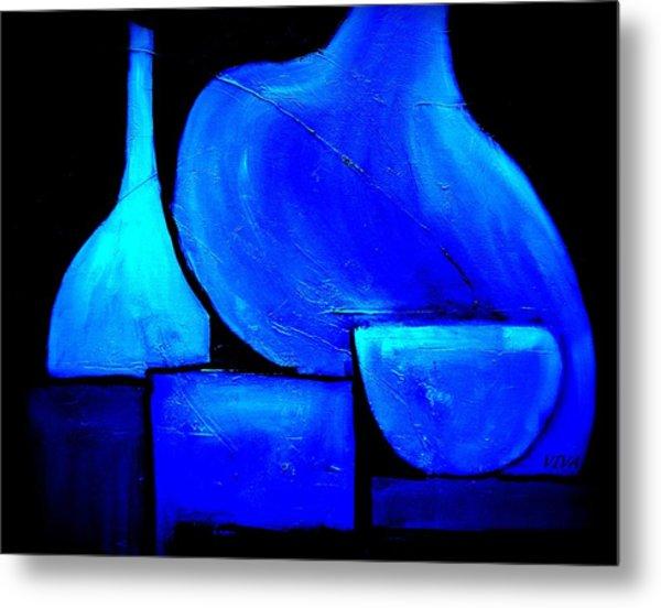 Vessels Blue Metal Print
