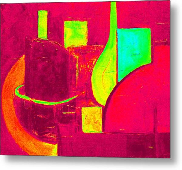 Vessels Very Colorful Metal Print
