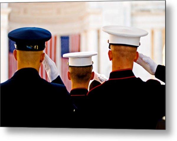 Veterans' Day Salute Metal Print