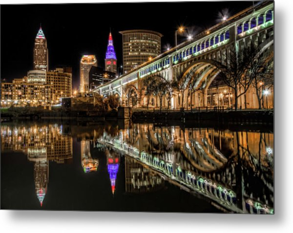 Veterans Memorial Bridge Metal Print