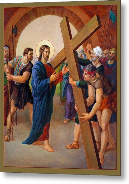 Via Dolorosa - Jesus Takes Up His Cross - 2 Metal Print