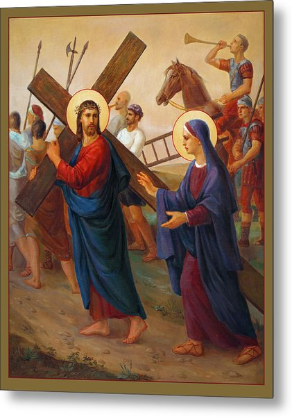 Via Dolorosa - The Way Of The Cross - 4 Metal Print