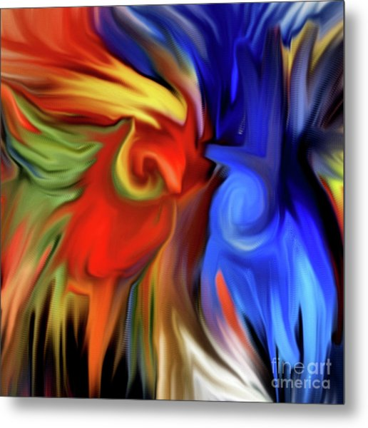 Vibrant Abstract Color Strokes Metal Print