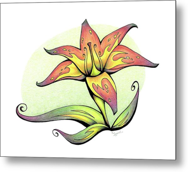 Vibrant Flower 4 Tiger Lily Metal Print