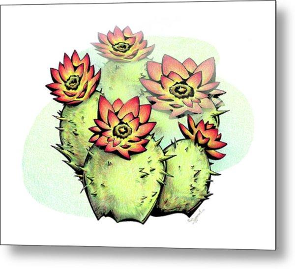Vibrant Flower 6 Cactus Metal Print