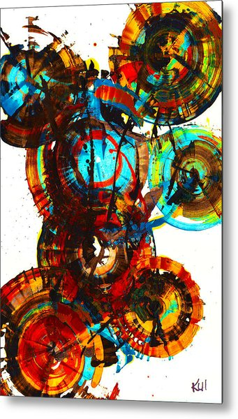 Vibrant Sphere Series 995.042312vsx2 Metal Print