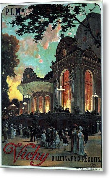 Vichy, France - Billets A Prix Reduits - Retro Travel Poster - Vintage Poster Metal Print