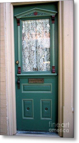 Victorian Door Metal Print by Barbara Oberholtzer