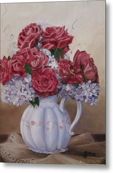 Victorian Rose Metal Print by Gloria Condon
