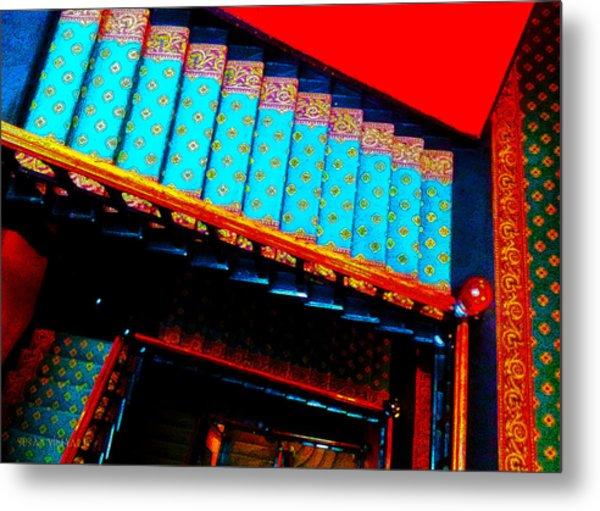 Victorian Stairs Metal Print
