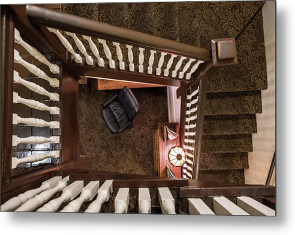 Victorian Stairway Metal Print