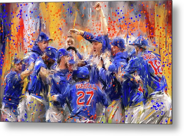 Victory At Last - Cubs 2016 World Series Champions Metal Print