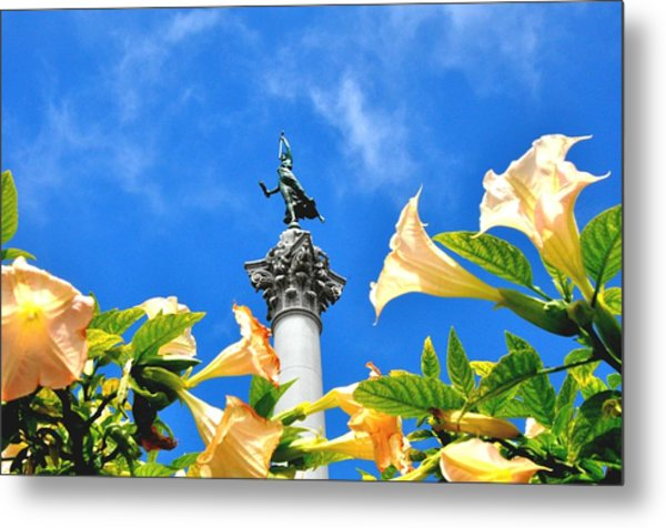 Victory Figurine In Union Square San Francisco Metal Print