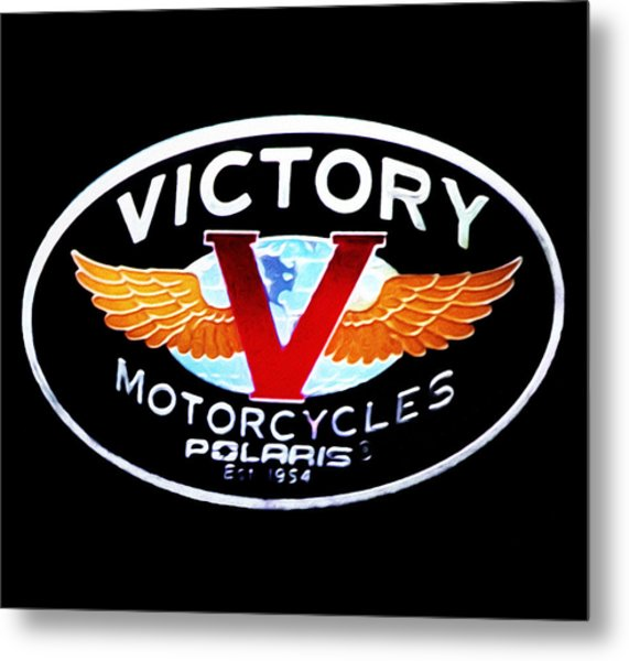 Victory Motorcycles Emblem Metal Print