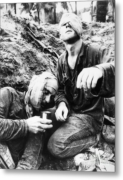 Vietnam War Medic 1966 Metal Print by Granger