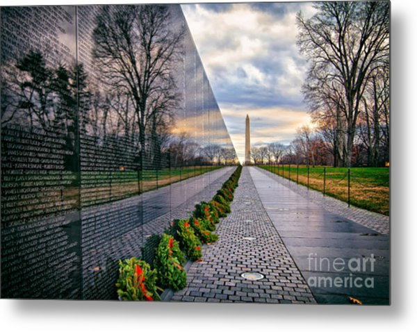 Vietnam War Memorial, Washington, Dc, Usa Metal Print