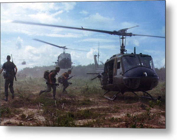 Vietnam War, Uh-1d Helicopters Airlift Metal Print