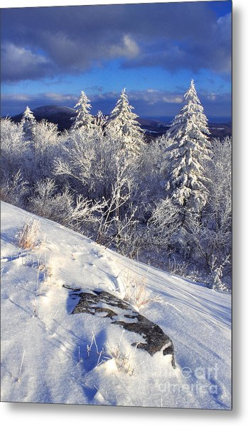 View Along Highland Scenic Highway Metal Print