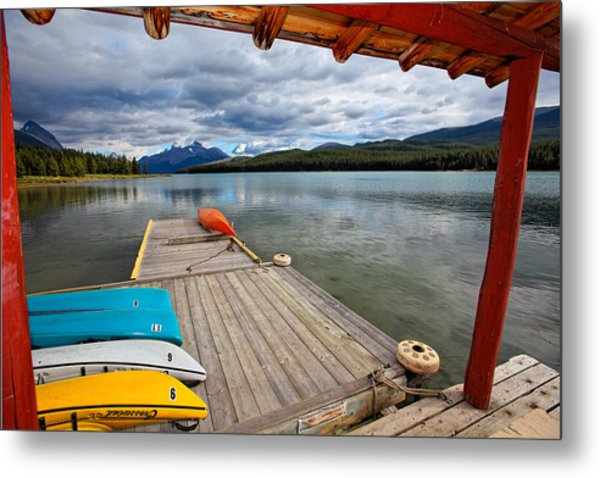 View From A Boathouse Metal Print by George Oze
