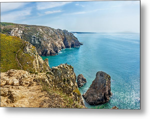 View From Cabo Da Roca - The Western Point Of Continental Europe Metal Print by Dragomir Nikolov
