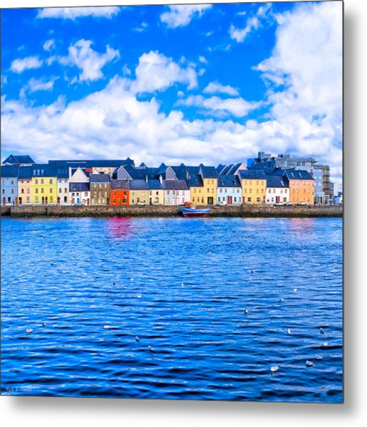 View From Claddagh Quay - Galway Metal Print