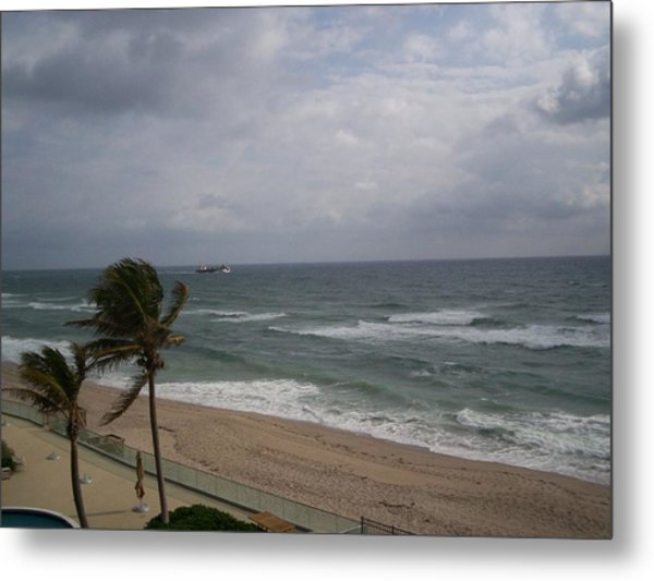 View From Condo Metal Print by Karen Thompson